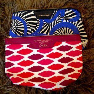 4/$25 - Estee Lauder cosmetic bag lot